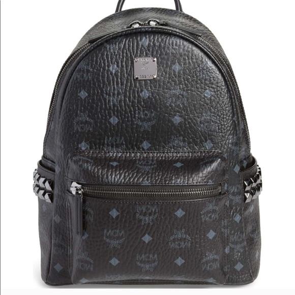 7528173503d4 NEW MCM Stark side stud Black Backpack. M_5c645288d6dc52a1b99a66f6